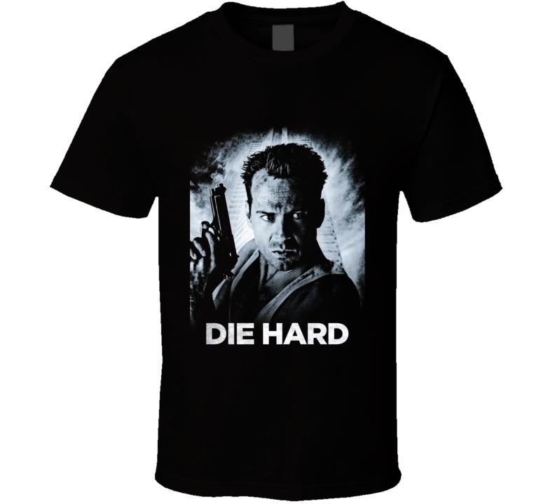 Die Hard Bruce Willis Retro 80's Action Movie Fan T Shirt