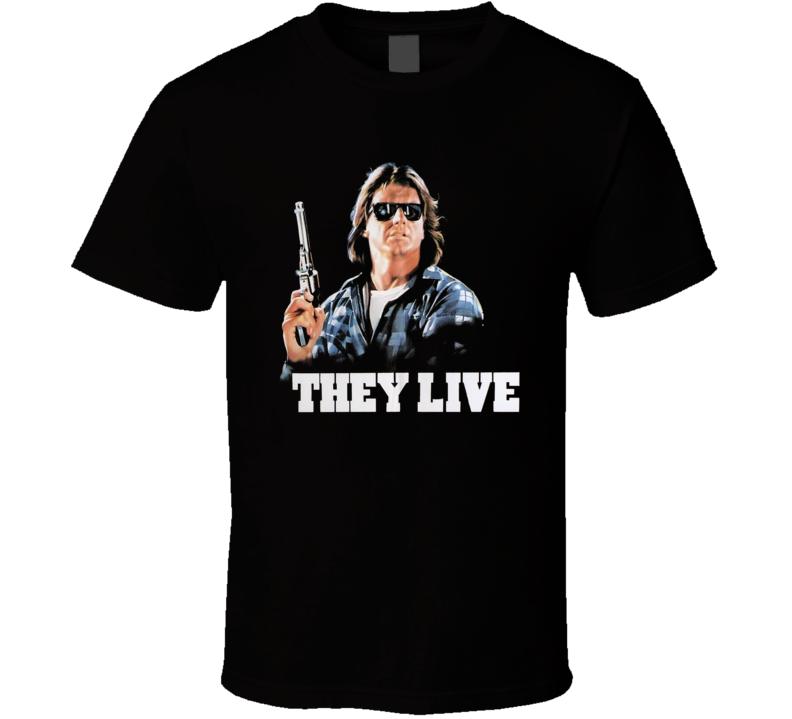 They Live Rowdy Roddy Piper Retro Horror Movie T Shirt