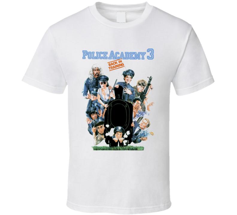 Police 3 Retro 80's Comedy Funny T Shirt