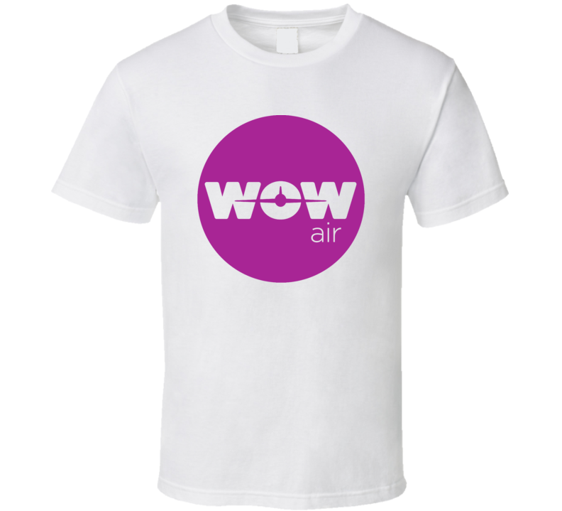 Wow Air Defunct Airline Airplane Logo T Shirt