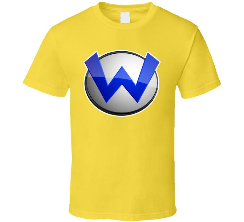 Super Mario Bros Wario Logo T Shirt