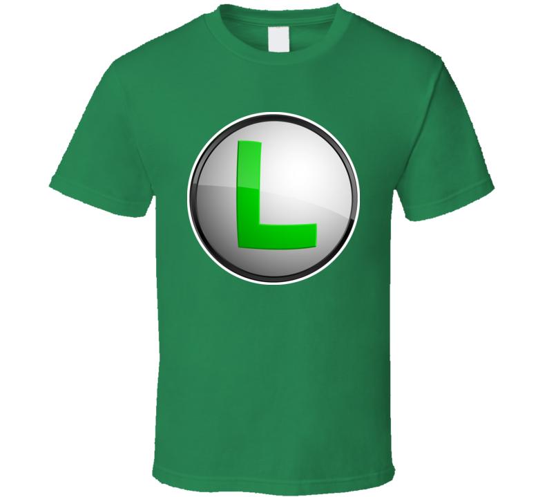 Super Mario Bros Luigi Logo T Shirt