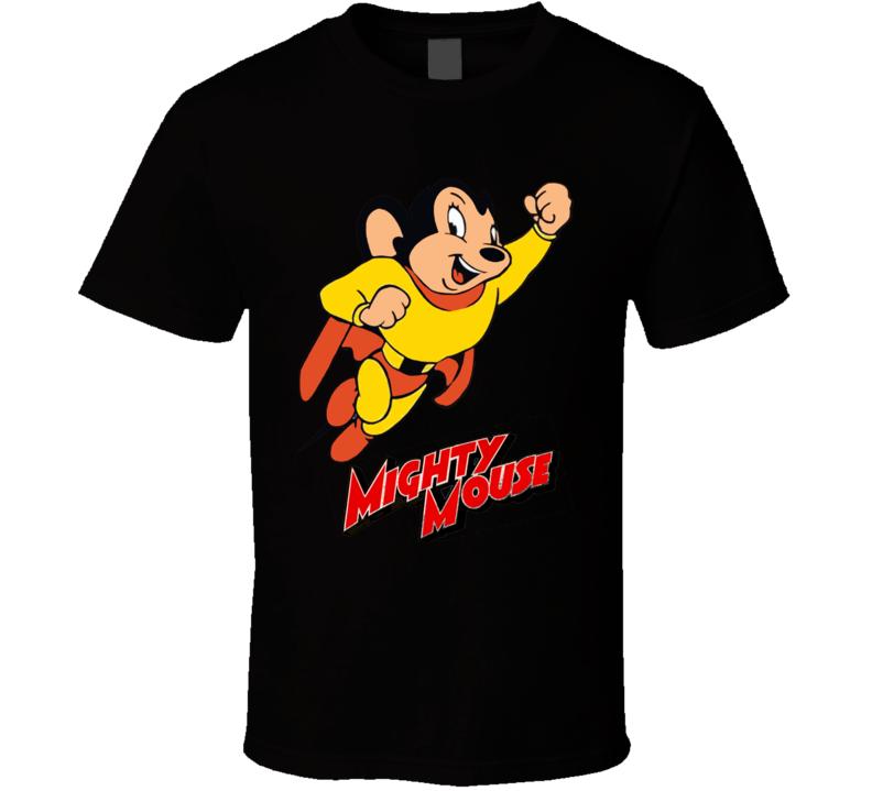 Mighty Mouse Retro Classic Cartoon T Shirt