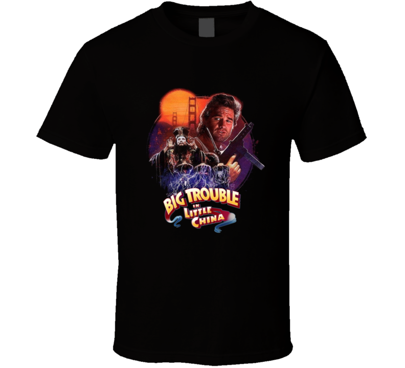 Big Trouble In Little China Kurt Russell 80's Action Movie T Shirt