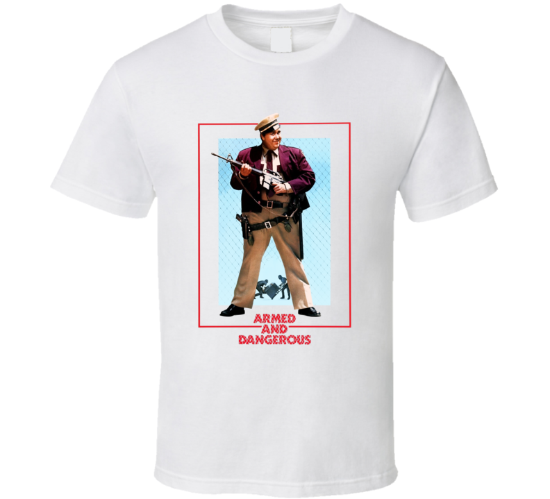 Armed And Dangerous John Candy Retro 80's Comedy T Shirt