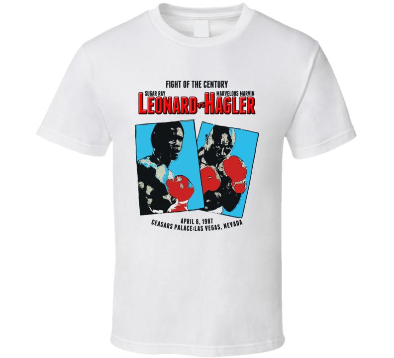 Sugar Ray Leonard Vs Vs Hagler Retro Boxing T Shirt