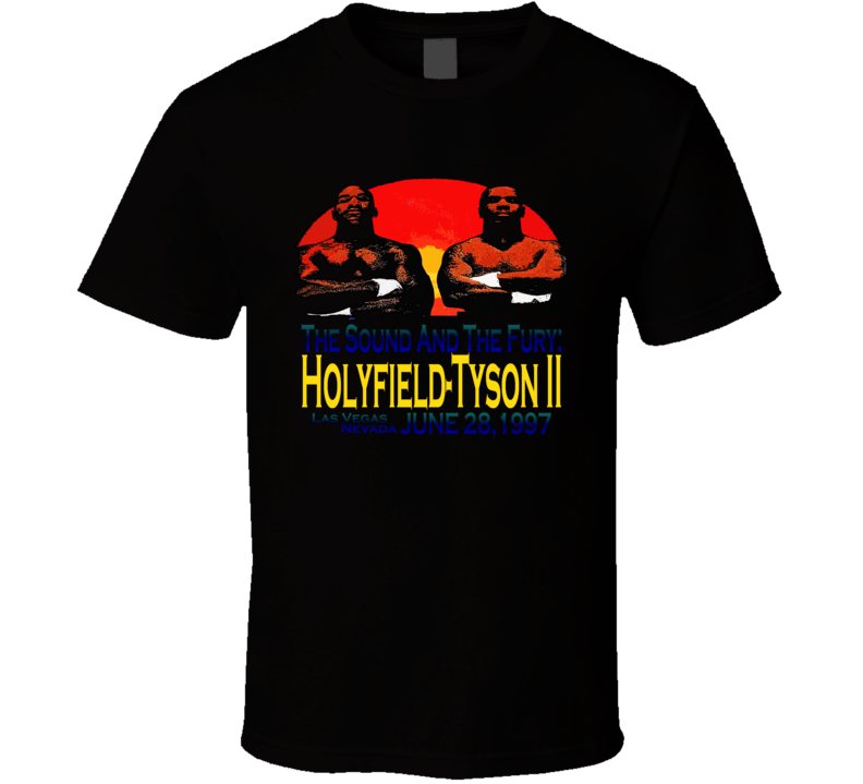 Mike tyson Vs Holyfield Ii Retro Boxing T Shirt