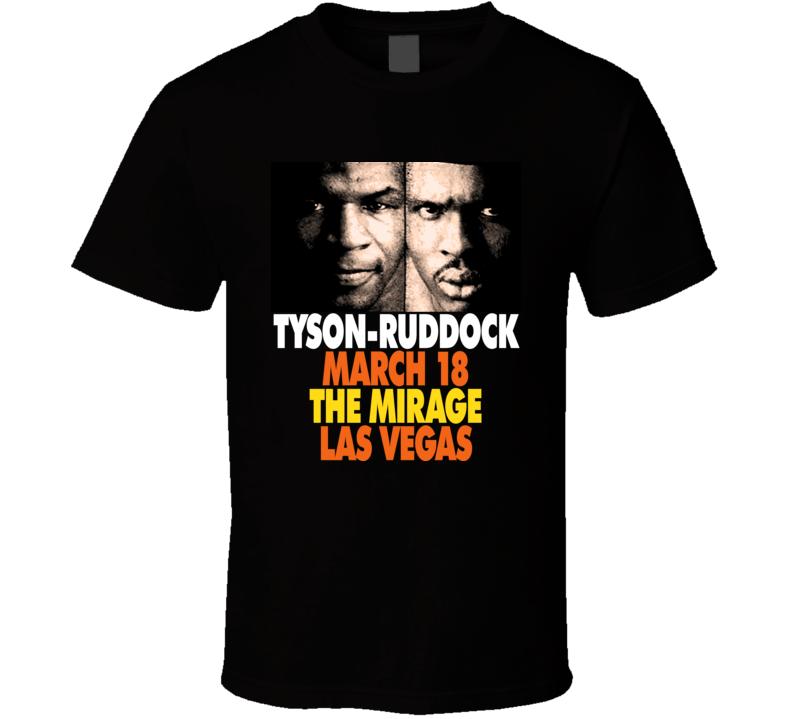 Mike Tyson Vs Ruddock Retro Boxing T Shirt