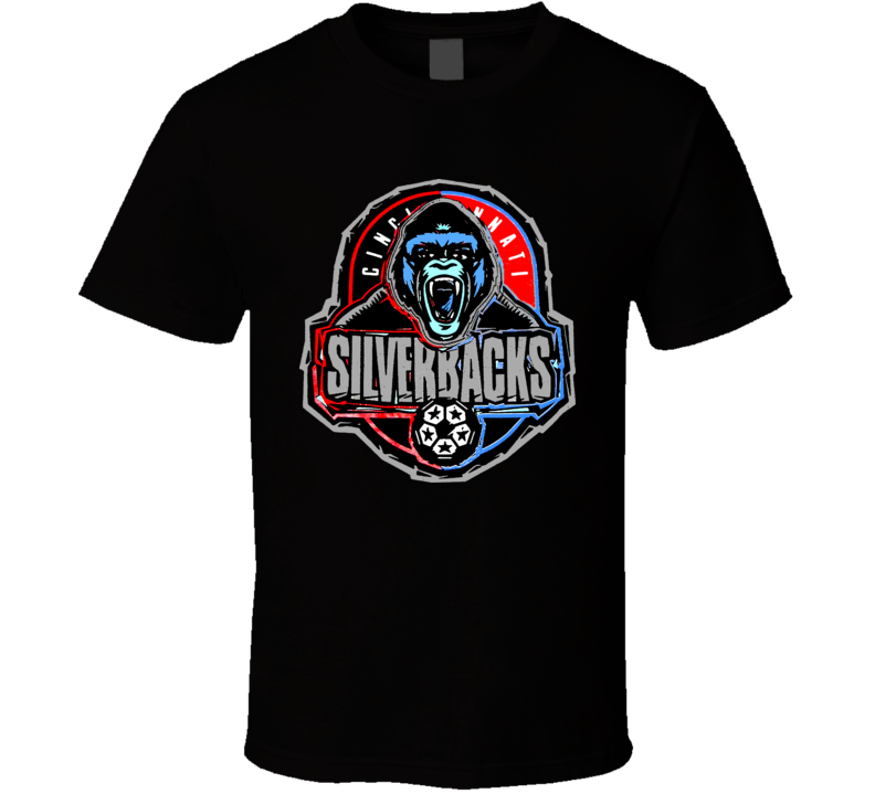 Cincinati Silverbacks Retro Npsl T Shirt