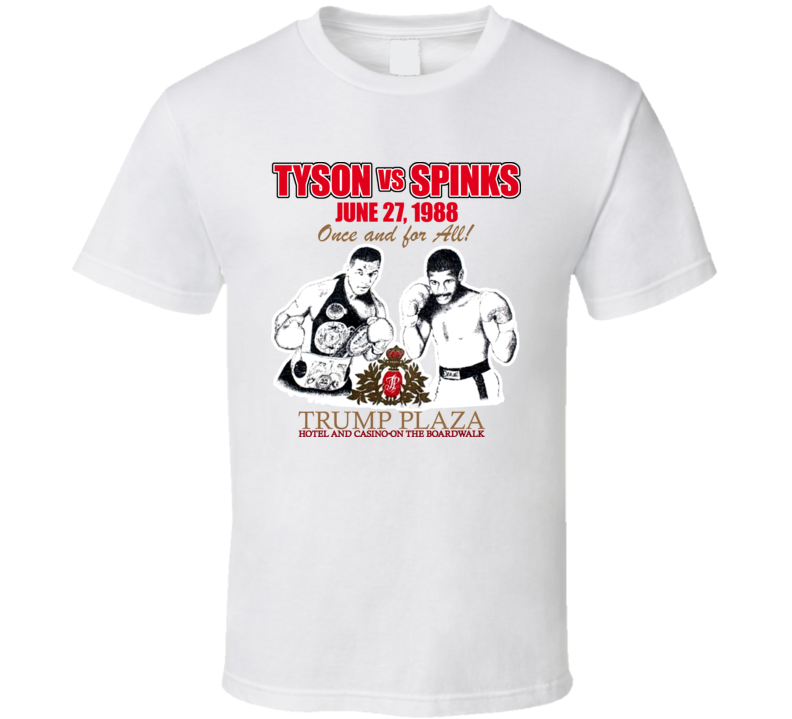 Mike Tyson Vs Michael Spinks Fight T Shirt