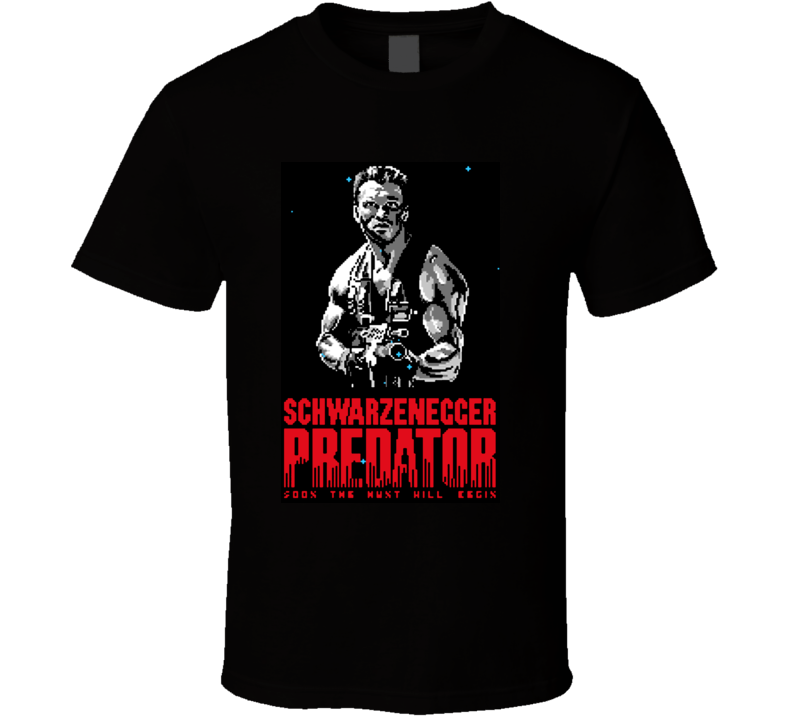 Arnold Schwarzenegger Predator Movie T Shirt