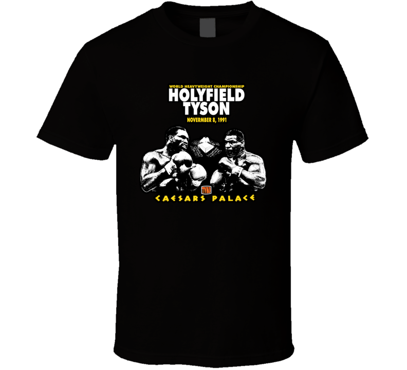 Mike Tyson Holyfield Fight T Shirt