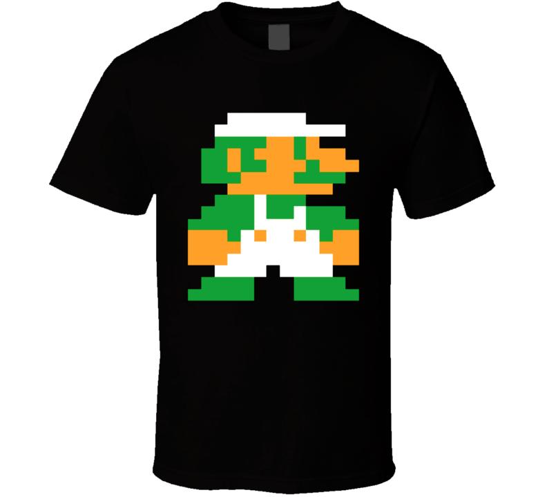Super Mario Bros Luigi 8 Bit T Shirt