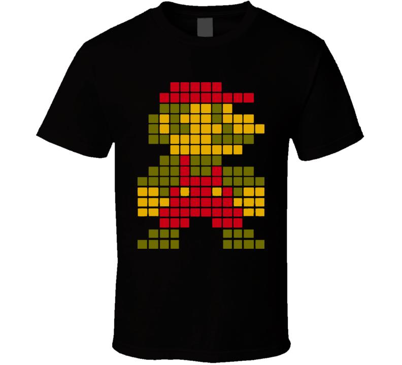 Super Mario Bros Mario 8 Bit T Shirt
