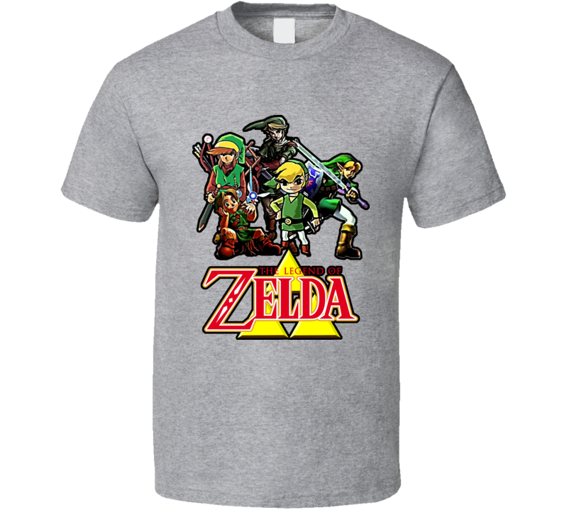 The Legend Of Zelda Link Throughout The Years T Shirt