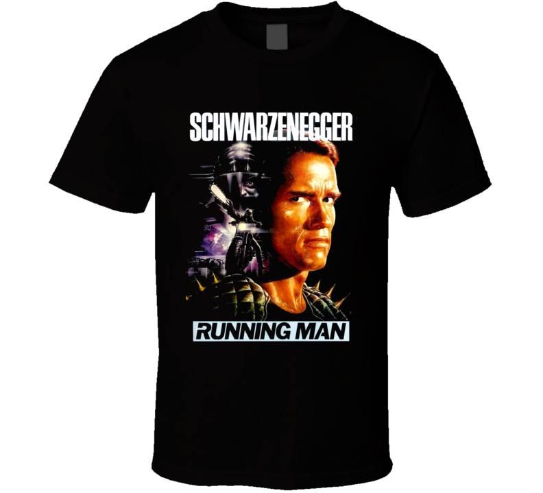 Arnold Schwarzenegger Running Man Movie T Shirt