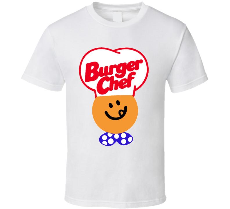 Burger Chef Retro Food Logo T Shirt