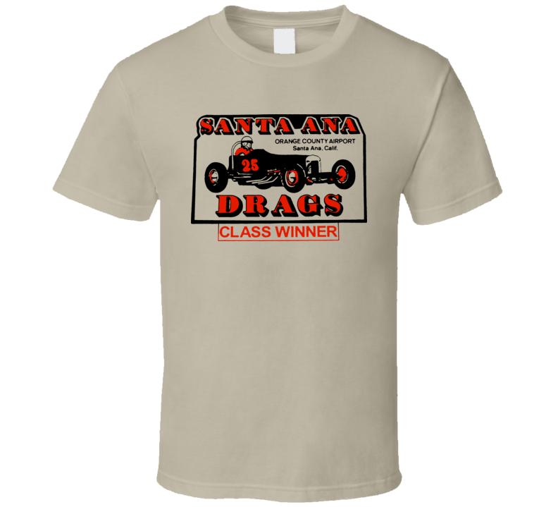 Santa Ana Drag Racing Retro Logo T Shirt