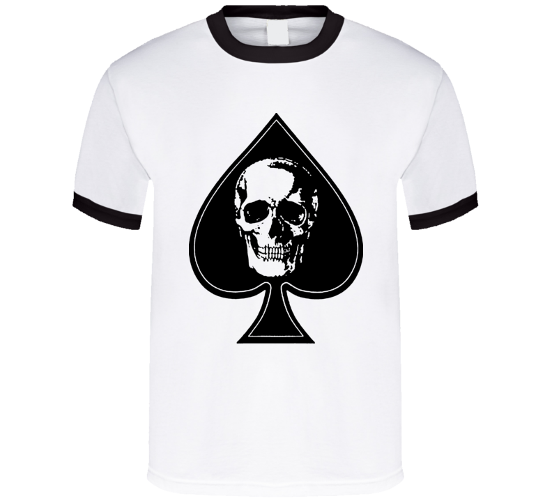 Ace Of Spades Skull Poker T Shirt