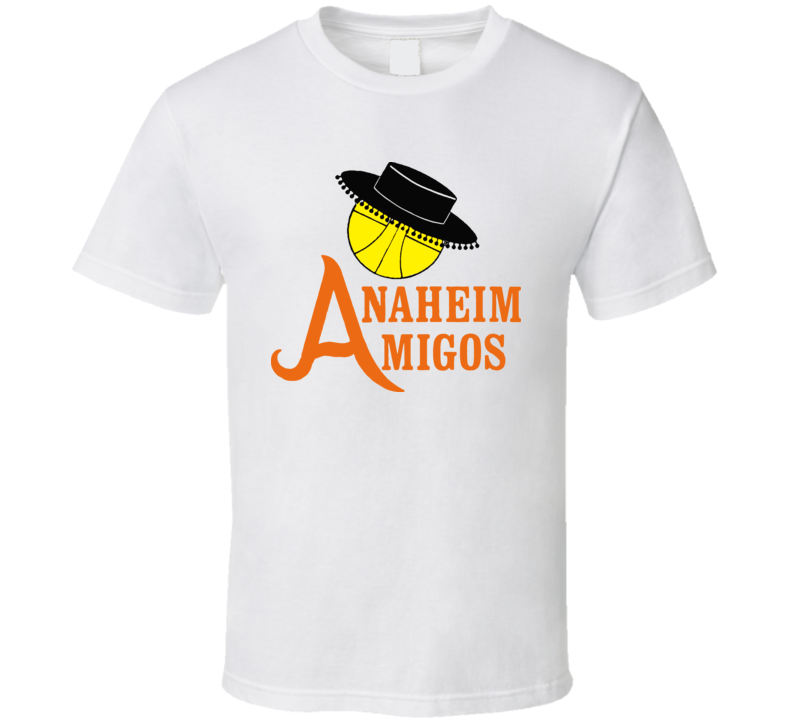 Anaheim Amigos ABA Basketball Classic T Shirt