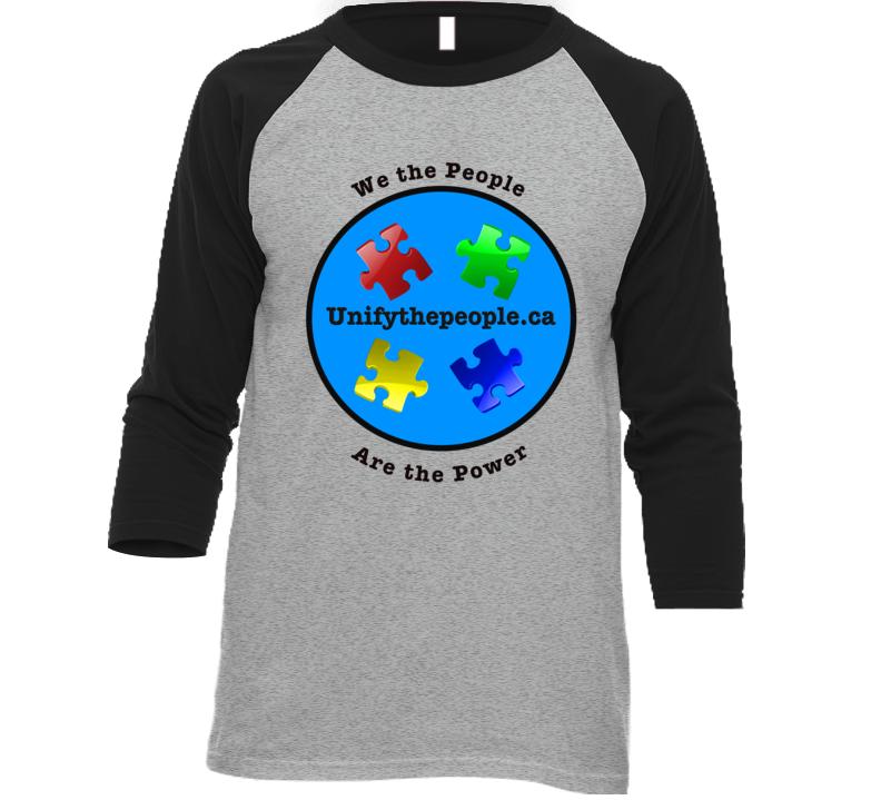 Unify The People Baseball Raglan T Shirt