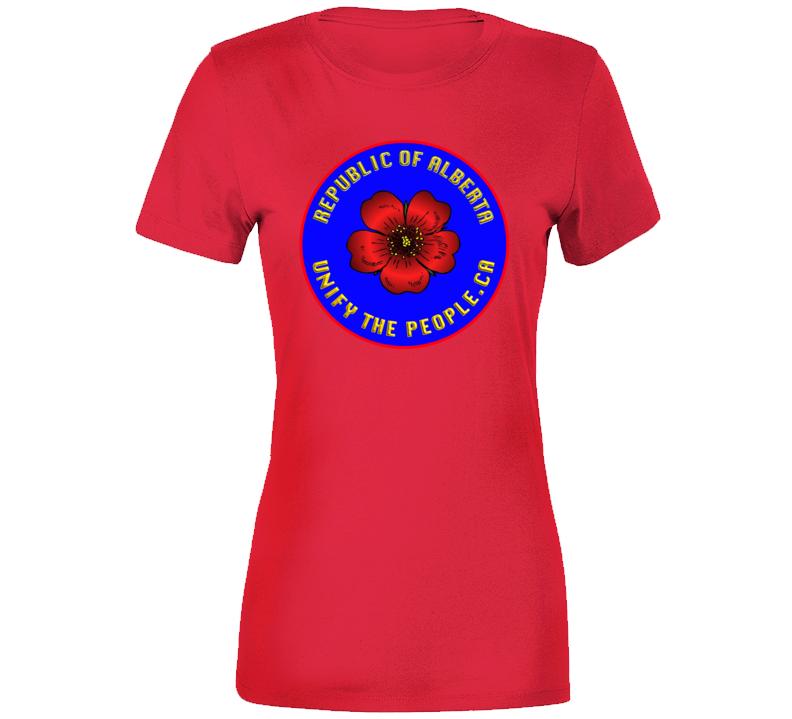 Republic Of Albeta Wth Unify  Premium Ladies T Shirt