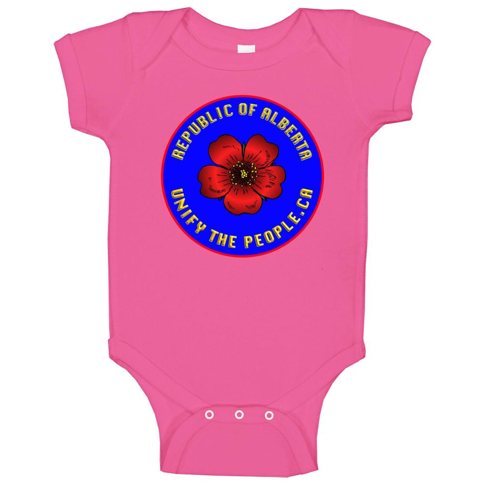 Republic Of Alberta Wth Uniy Baby One Piece