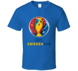 Sweden UEFA EURO 2016 Grunge T Shirt