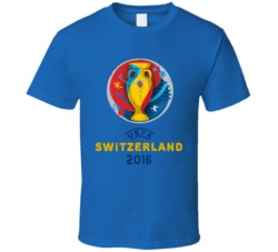 Switzerland UEFA EURO 2016 Grunge T Shirt
