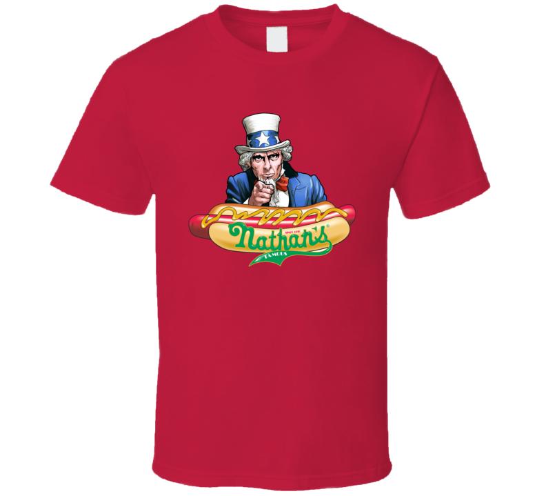 Nathan's Hot Dog Eating Contest 100th Anniversary T Shirt