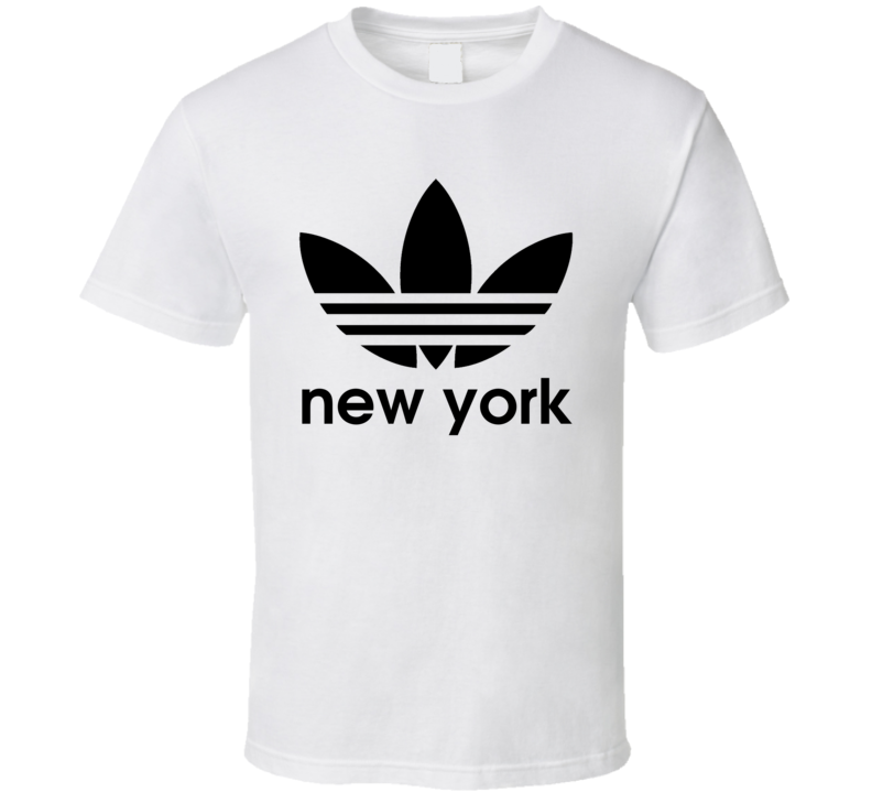 New York Best City Adidas Logo T Shirt