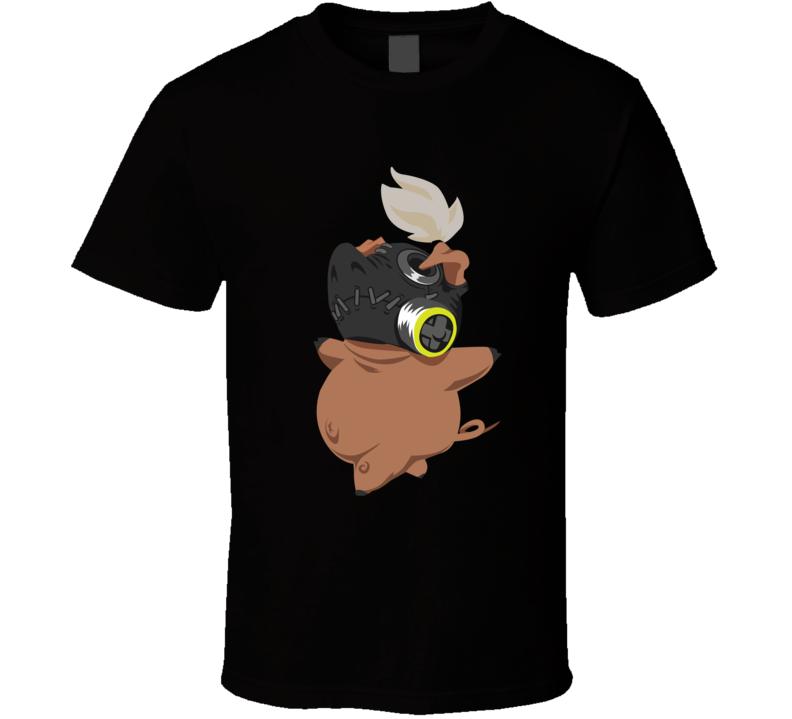 Overwatch Roadhog Free Pig Spray T Shirt