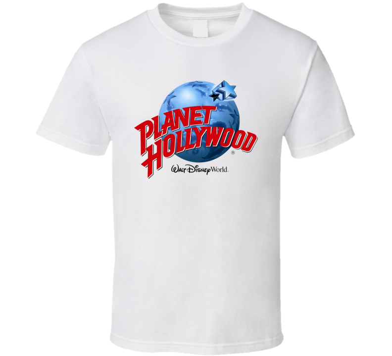 Planet hollywood disney world vintage retro gift t shirt for Planet hollywood t shirt