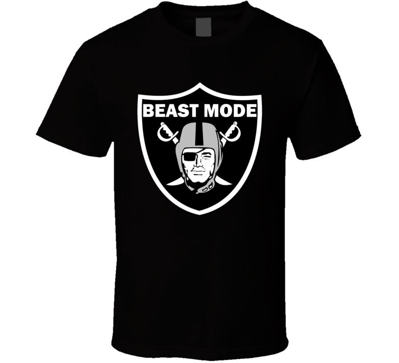 Marshawn Lynch Beast Mode Oakland Raiders Trade NFL Football T Shirt
