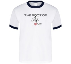 The Root Of Love T Shirt Ringer