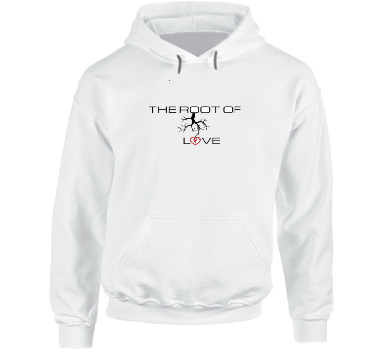 The Root Of Love Company Logo Hoodie