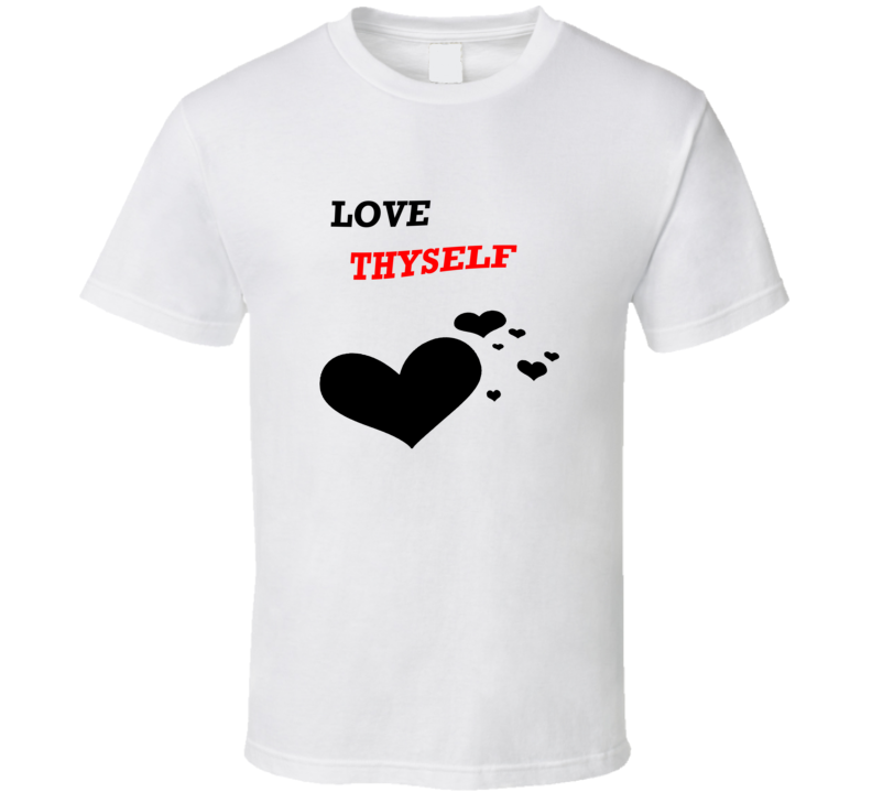 100% Cotton Love Thyself summer T-shirt