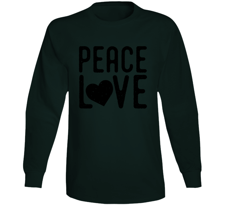 Peace Love Long Sleeve Tee Long Sleeve