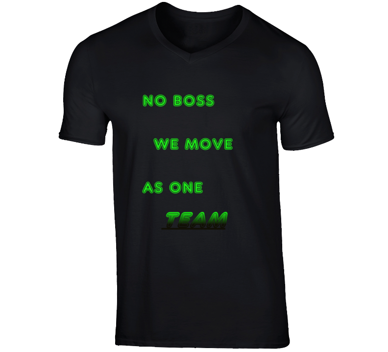 No Boss V-neck T Shirt