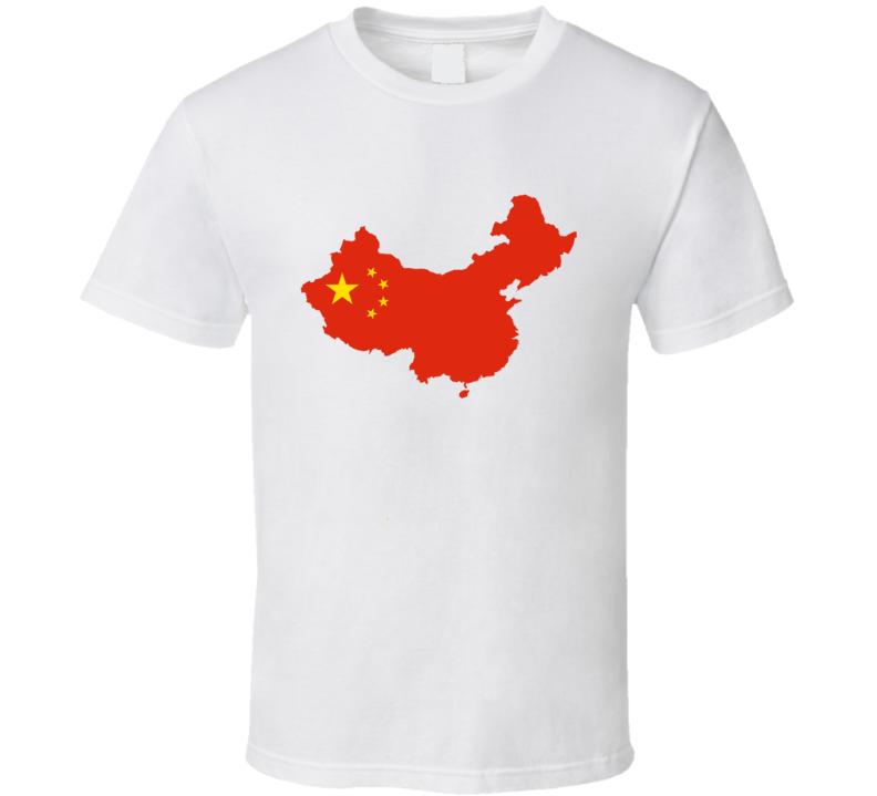 China Flag Fan T Shirt