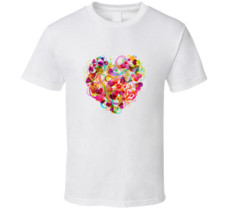 Childrens Colourful Love Heart T Shirt