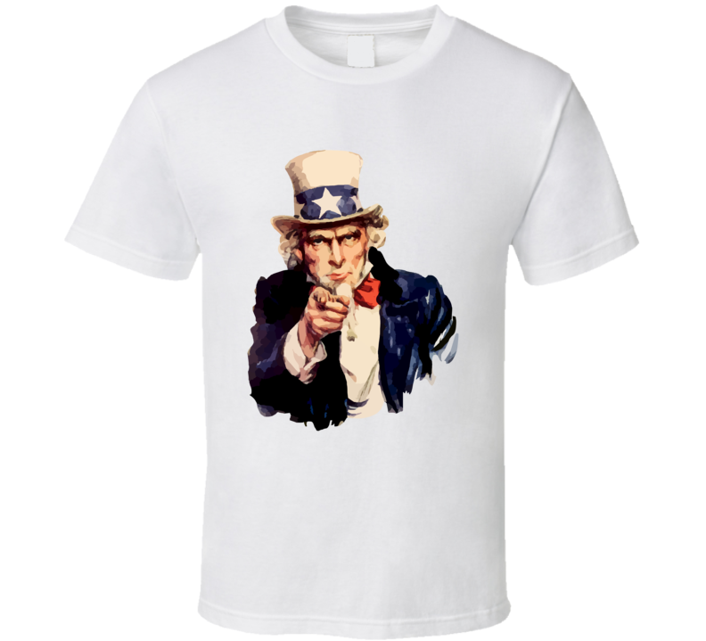Uncle Sam I Want You Fan T Shirt