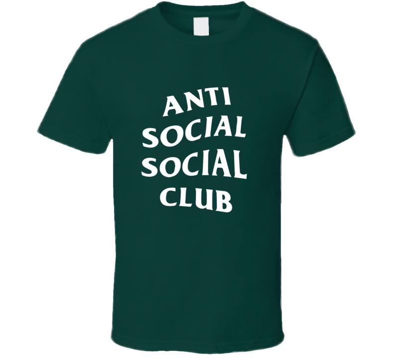 Anti Social Social Club Fan T Shirt White Text