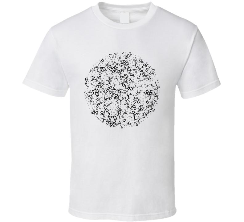 Random Number Circle T Shirt