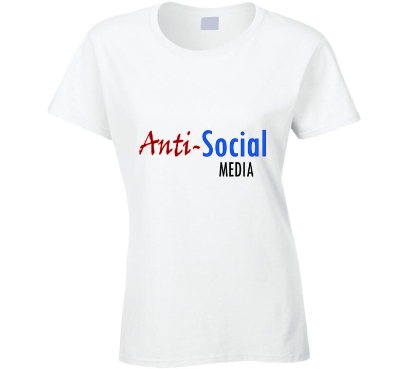 Social Media Ladies T Shirt