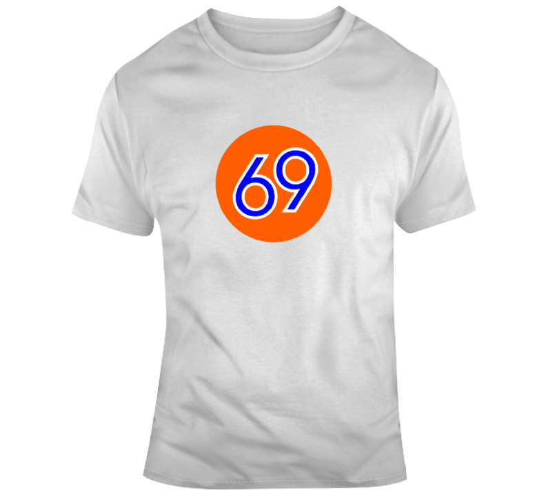 69 Orange Gas Globe Sign T Shirt