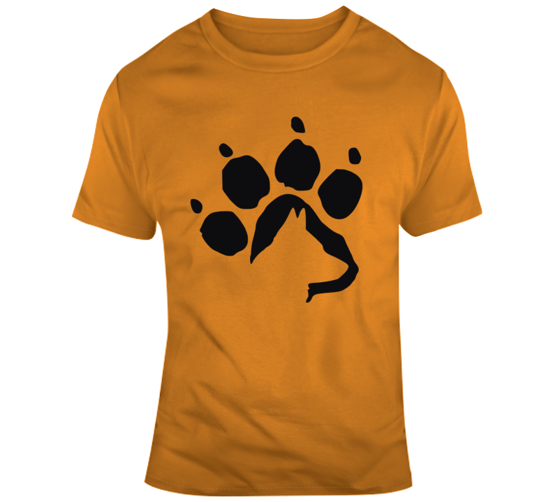 Dog Silhouette In Paw T Shirt