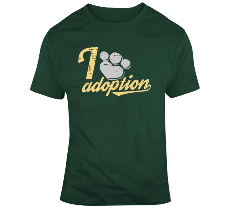 I Heart Adoption , Paw T Shirt