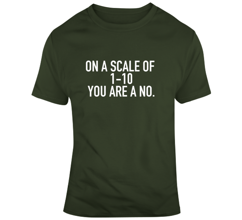 On A Scale Of 1-10, You Are A No T Shirt