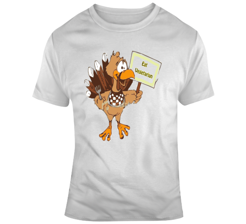 Eat Vegetarian, Turkey  T Shirt